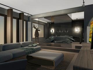 Living y Dormitorio Abierto CB Luxus Inmobilien Dormitorios de estilo moderno Multicolor
