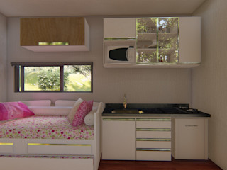 Locares Casa Container e Projetos Customizados Built-in kitchens Wood White
