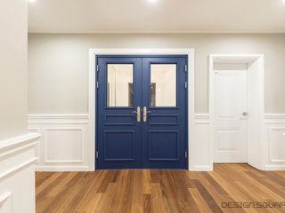 디자인스퀘어 Ruang Keluarga Modern Blue