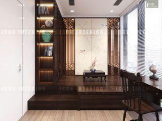 ICON INTERIOR Salas multimedia de estilo asiático