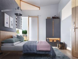 Studio Gritt Camera da letto in stile scandinavo