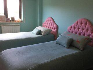 Oficina Rústica Habitaciones infantilesCamas y cunas Textil Rosa