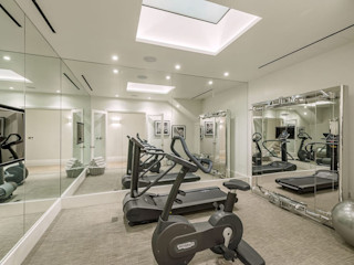 Basement - Gym Conversion SJ Construction London Nowoczesna siłownia