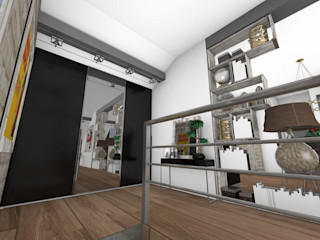 Crhome Design Industrial corridor, hallway & stairs