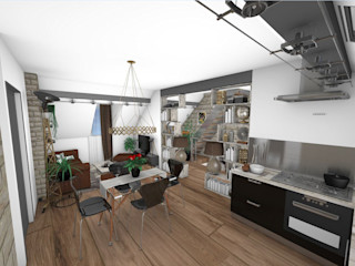 Crhome Design Industrial style dining room