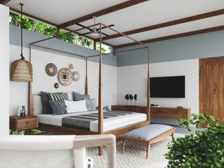 Studio Gritt Camera da letto in stile rustico