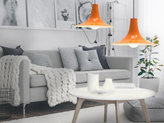 Co&Ca Lighting WohnzimmerBeleuchtung Eisen/Stahl Orange