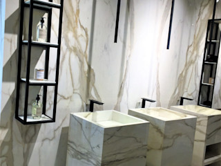 Sgabello Interiores Modern style bathrooms Marble Beige