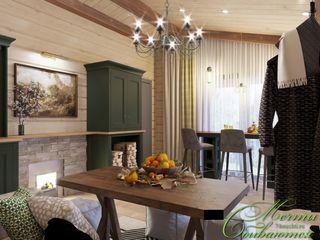 Компания архитекторов Латышевых 'Мечты сбываются' Casas de banho campestres