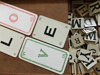 Vintage letters made into your personal fridge magnet wisdom Rural Retro HouseholdAccessories & decoration