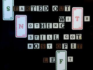 Vintage letters made into your personal fridge magnet wisdom Rural Retro KitchenAccessories & textiles