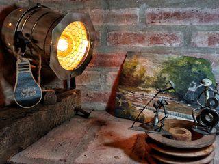 Lámpara Vintage Tipo Cine Deco Vieja Eddie Lamparas Vintage Vieja Eddie Oficinas y locales comerciales Hierro/Acero Turquesa