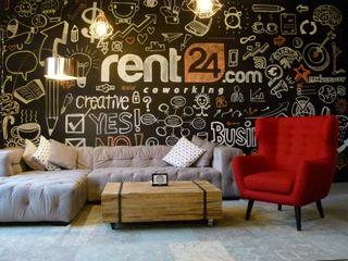 A lively co- working area 01 Ivy's Design - Interior Designer aus Berlin Ausgefallene Wände & Böden Beton Metallic/Silber