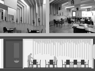 """"""" Lo Scalco Grasso""""- Osteria Contemporanea Studio di Architettura IATTONI Negozi & Locali commerciali moderni"""