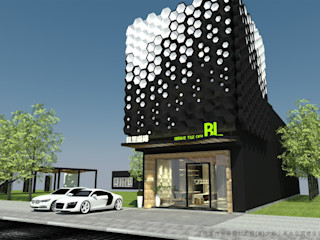 磁磚未來展示模式- AI智慧展示空間設計內容 京悅室內裝修設計工程(有)公司 真水空間建築設計居研所 樓梯 磁磚 White