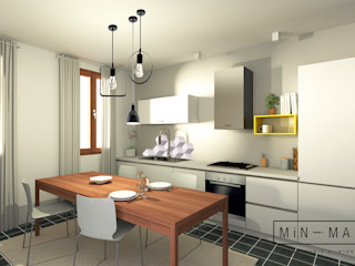 MINIMAL   Laboratorio d'Interni Вбудовані кухні Сірий