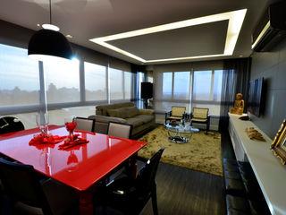 Marcelo John Arquitetura e Interiores Salas de estilo moderno Tablero DM