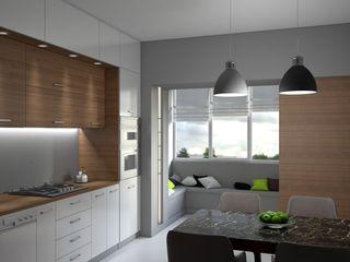 enki design Minimalistyczna kuchnia