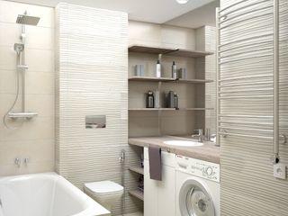 enki design Minimalistyczna łazienka Płytki Beżowy