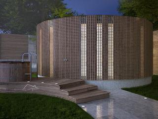 enki design Sauna Drewno O efekcie drewna