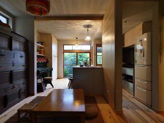 昭和ガラスの家 みゆう設計室 和風デザインの ダイニング