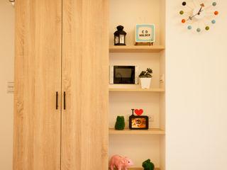 氧氣-2個人的20坪簡約北歐小家庭 酒窩設計有限公司 Dimple Interior Design 客廳 塑木複合材料 Wood effect