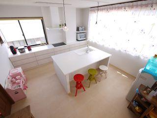 フレンチナチュラルスタイルの家 みゆう設計室 北欧デザインの キッチン