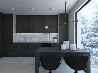 UTOO-Pracownia Architektury Wnętrz i Krajobrazu 現代廚房設計點子、靈感&圖片
