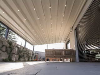 PERGOLA A.Ş. Hiên, sân thượng phong cách hiện đại Nhôm / Kẽm Grey