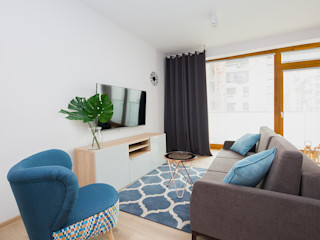 ZIZI STUDIO Magdalena Latos Modern Living Room Turquoise
