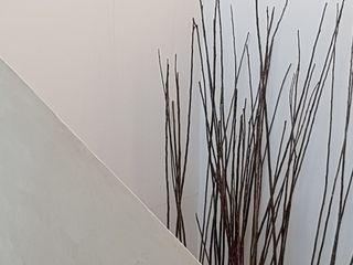 Wände Betonoptik BETON2 Moderner Flur, Diele & Treppenhaus Beton Beige