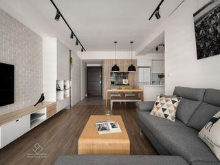 極簡室內設計 Simple Design Studio Salas de estilo escandinavo Madera Acabado en madera