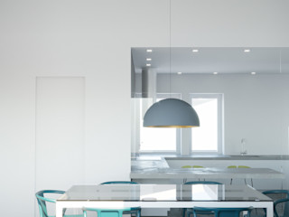 Villa Ansedonia Arabella Rocca Architettura e Design Sala da pranzo moderna