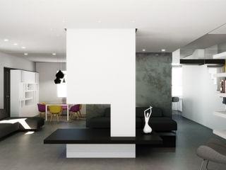 Villa Passiva a Casal Palocco Arabella Rocca Architettura e Design Soggiorno moderno