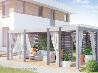 Визуализации уличных штор DECOR OUTDOOR Балкон, веранда и террасаАксессуары и декор Текстиль Белый