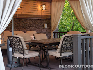 Уличные шторы для веранды DECOR OUTDOOR Балкон, веранда и террасаАксессуары и декор Текстиль Серый