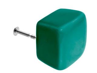 Ceramics handles - Cube - colour marine glossy glaze Viola Ceramics Studio ArtworkOther artistic objects Ceramic Green