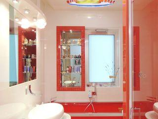 Appartamento 1 - Orta Nova (FG) Studio di Architettura e Design Giovanni Scopece Bagno moderno Ceramica Rosso