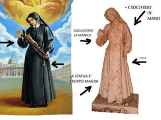 Statua - Madre Anna Rosa Gattorno Fratelli Rossi & C. ArteSculture