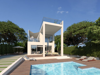 Luxury Villa at La Nucía, Alicante Pacheco & Asociados Modern houses White