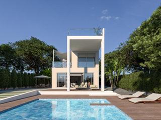 Luxury Villa at La Nucía, Alicante Pacheco & Asociados Modern pool