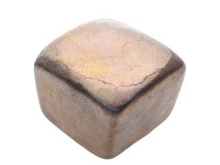 Ceramics handles - Cube - colour old gold glossy glaze Viola Ceramics Studio ArtworkOther artistic objects Ceramic Amber/Gold