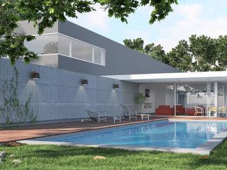 Rendering All Casas unifamiliares Concreto Gris