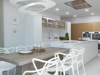 Rendering All Cocinas equipadas Compuestos de madera y plástico Blanco