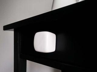 Ceramics handles - Cube - colour white glossy glaze Viola Ceramics Studio ArtworkOther artistic objects Ceramic White