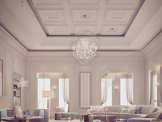 High-spirited and Cozy Living Room Design IONS DESIGN Living room Marble White