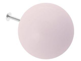 Ceramics handles – Round 6 cm - colour pastel pink glossy glaze Viola Ceramics Studio ArtworkOther artistic objects Ceramic Pink