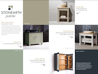 Stonearth Painted Palette Stonearth Interiors Ltd BathroomStorage Solid Wood