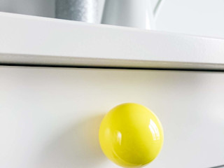 "Ceramics handles - Round 3,5 cm / 1,58"" - colour yellow glossy glaze Viola Ceramics Studio ArtworkOther artistic objects Ceramic Yellow"