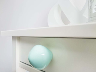 Ceramics handles – Little top – colour pastel mint glossy glaze Viola Ceramics Studio ArtworkOther artistic objects Ceramic Blue
